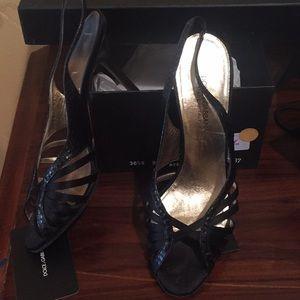 Women's dolce & gabbana snake satin heels Sz 37